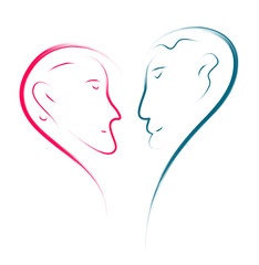 love couple abstract illustration