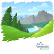 Pine Trees , Mountains and Green Hills