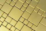 Fototapety Gold metal plate background or texture