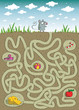 Mouse and Cheese Maze Game with solution in hidden layer