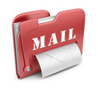 Folder is similar to mail box. Email concept. 3D icon isolated