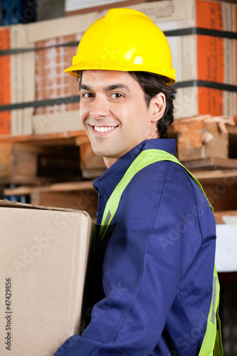 Foreman Working At Warehouse
