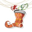 Funny Christmas sock with candy