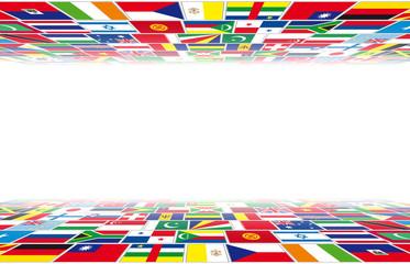 Bandiere in prospettiva