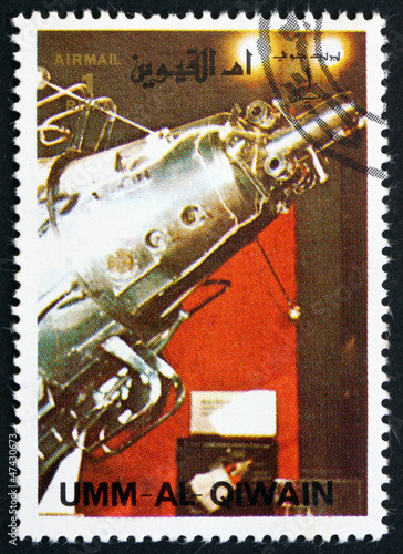 Postage stamp Umm al-Quwain 1972 Sputnik 3 Spacecraft