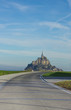 Road to Mont Saint Michel, France