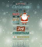 Fototapety Christmas vintage greeting card