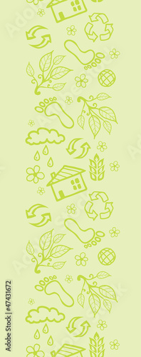 Vector ecological vertical seamless pattern ornament background