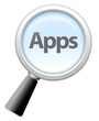 "Magnifying Glass Icon ""Apps"""