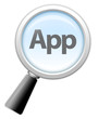 "Magnifying Glass Icon ""App"""