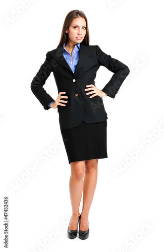 Full length businesswoman