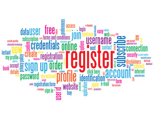 """REGISTER"" Tag Cloud (sign up subscribe join apply click here)"