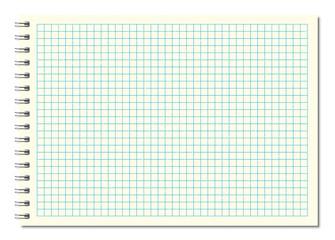 Beige spiral notebook A5 vector image