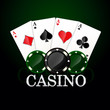 Casino element Poker cards and chips