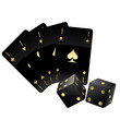 Black Cards and Dices