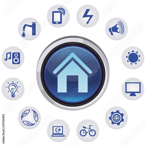 Vector smart house concept