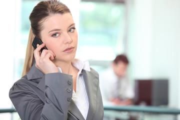 Woman canceling appointment