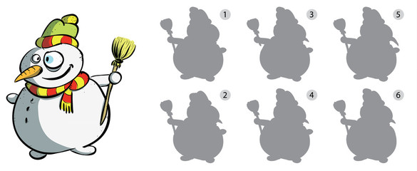 Find Right Mirror Image of Snowman ... solution No. 6