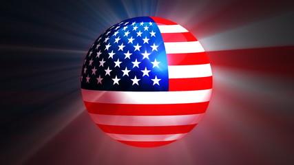 USA Globe Flag