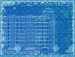 Grunge blue horizontal architectural background. Eps10