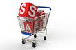 3d shopping cart sale