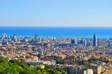 Barcelona view, Spain (Europe)