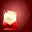 Weihnachtlicher Brief in rot