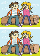 Couple ... 10 Differences ... solution in hidden layer