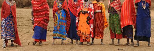 Leinwandbild Motiv Masai donne