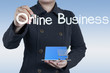 businesswoman and online business