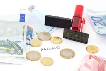 pagato, euro