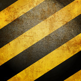 Fototapety Black and yellow hazard lines