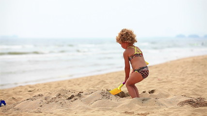 Little girl in holiday