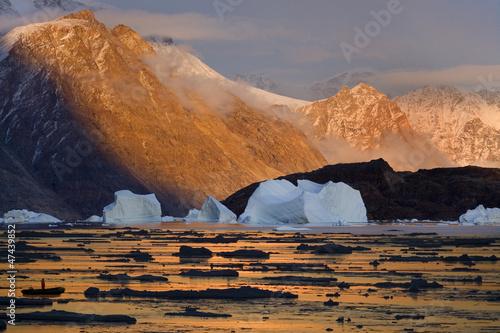 Papiers peints Arctique Northwest Fjord - Scoresbysund - Greenland