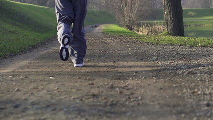 People jogging in park, super slow motion, shot at 240fps