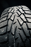 protector of winter tire, close-up view poster