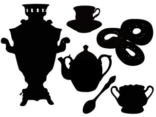 Ware the house tea drinking a samovar a teapot