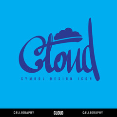 Cloud calligraphy concept