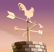 Weathervane Cockerel Chimney Dawn