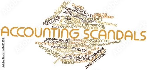 Word cloud for Accounting scandals