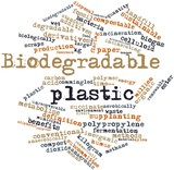 Word cloud for Biodegradable plastic