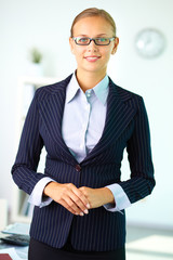 Businesswoman in suit