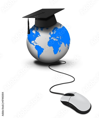 Online world wide education with mouse click