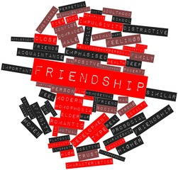 Word cloud for Friendship