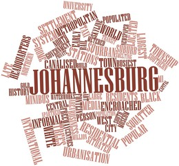 Word cloud for Johannesburg