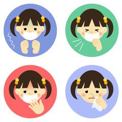 風邪の症状/女の子