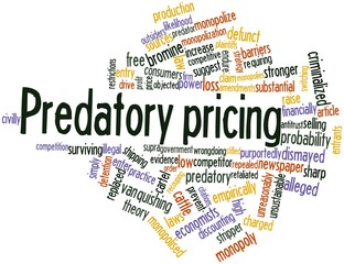 Word cloud for Predatory pricing