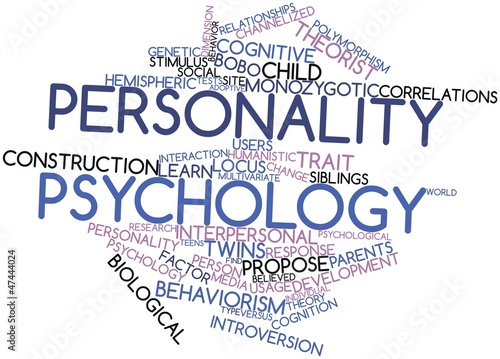 Word cloud for Personality psychology