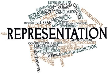 Word cloud for Representation