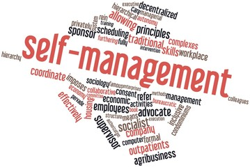 Word cloud for Self-management